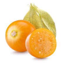 Cape Gooseberries Isolated On The White Background