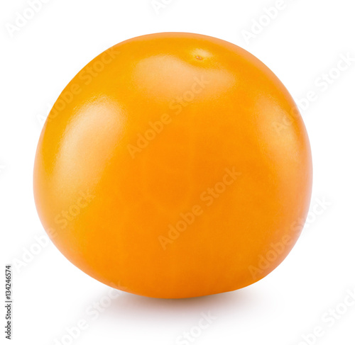 In de dag Bol cape gooseberry isolated on the white background
