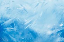 Ice Background, Blue Frozen Te...