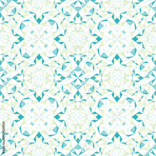 Vector Modern White Blue Green Abstract Geometric Textured Seamless Pattern Background Great For Elegant Texture
