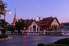 Wat Phra That Chang Kham Worawihan In Morning Time.