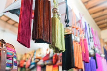 Silk On A Street Market In Fes...