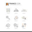 금융 라인 아이콘 세트