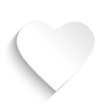 White Heart On White Background