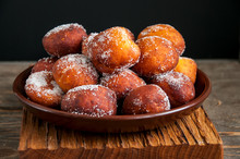 Pumpkin Berliner Donuts Withs Jam Galzed With Sugar