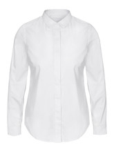 Womans White Business Shirt On...