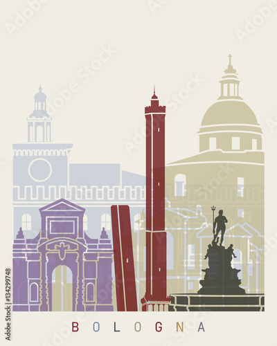 Bologna skyline poster Wallpaper Mural