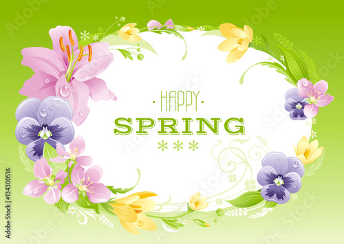 Spring Green Background Easter Mothers Day Birthday Wedding
