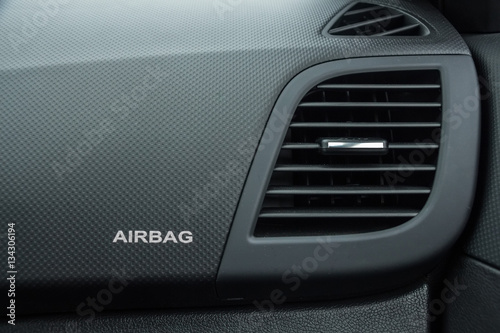 Photo Close-up of airbag sign