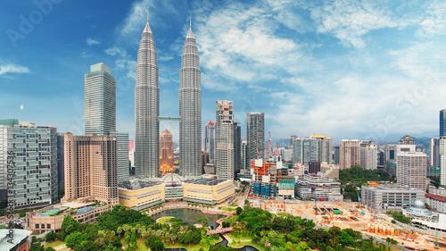 Fotografie, Obraz  Malaysia, Kuala Lumpur skyline