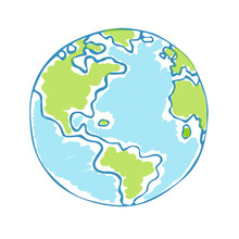 Globe Kids. Children Earth Day...