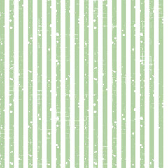Seamless vector striped pattern. Green geometric background with vertical lines. Grunge texture with attrition, cracks and ambrosia. Old style vintage design. Graphic illustration.