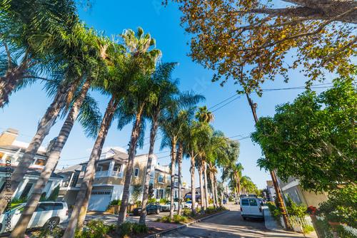 In de dag Los Angeles Street in Balboa island