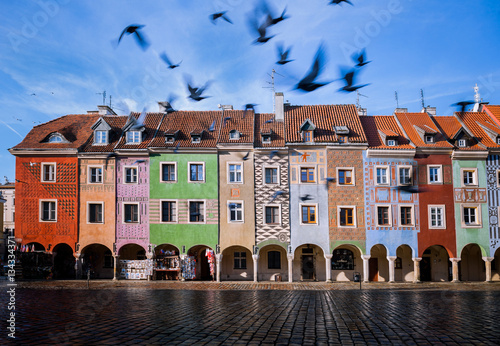 Poznan, Old marketplace. Main Square in the Poznan Old Town. Poland.
