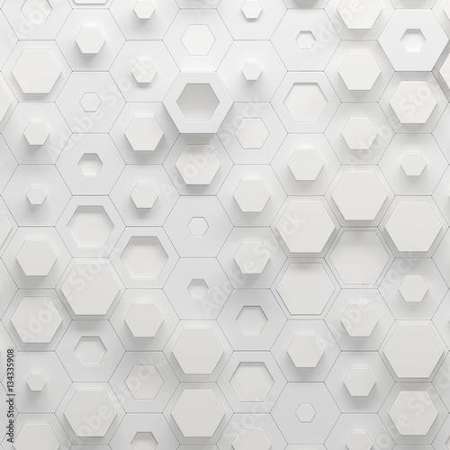 Parametric hexagonal pattern, 3d illustration - 134335908