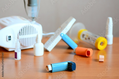 Asthma treatments, drugs and related equipment Canvas Print