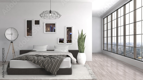 Fotografija  Bedroom interior. 3d illustration