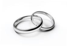 Verbundene Eheringe In Weißgold