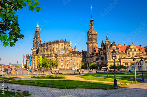 Foto  Dresden Cathedral of the Holy Trinity or Hofkirche, Dresden Castle in Dresden, S