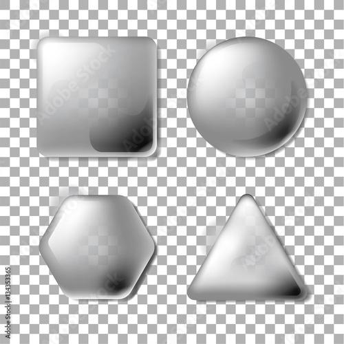 3D Opacity Square, Circle, Hexagon, Triangle Canvas-taulu