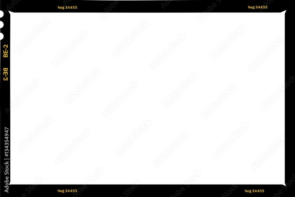 Fototapety, obrazy: large format film sheet negative, 6 x 9 centimeters, photo frame