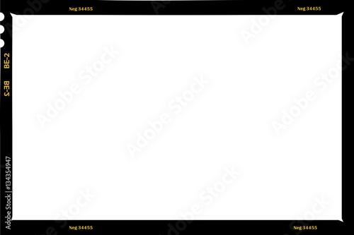 Obraz large format film sheet negative, 6 x 9 centimeters, photo frame - fototapety do salonu