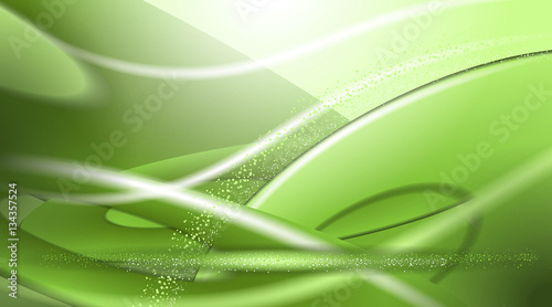 Digital vector abstract empty green background with stripes