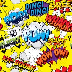 Tapeta Pow seamless comics background