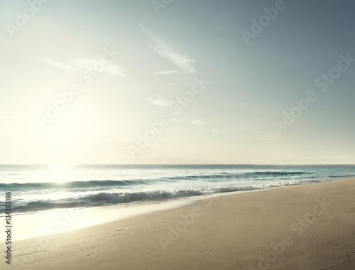 Fotobehang - sunset on Seychelles beach