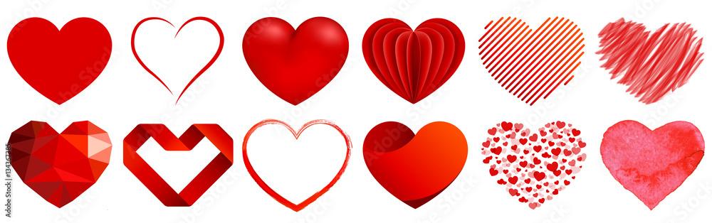 Fototapeta Herz Sammlung - heart collection