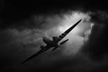 Dakota Airplane In Stormy Weather