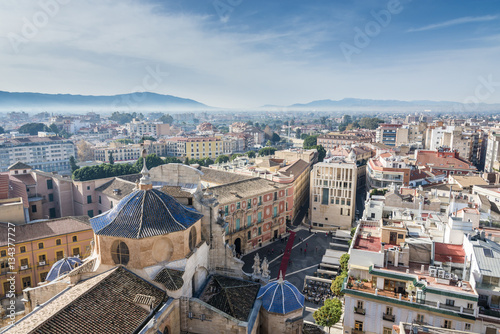 Panoramic view from Cathedral Church of Saint Mary in Murcia, Spain.