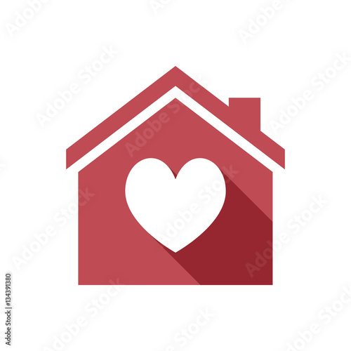 Amazing Isolated House With The Heart Poker Playing Card Sign Home Remodeling Inspirations Genioncuboardxyz