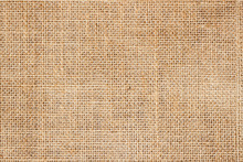 Sackcloth Or Burlap Background With Visible Texture  Copy Space For Text And Other Web  Print Design Elements.