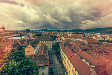 Historic Viewe Over The City Of Graz