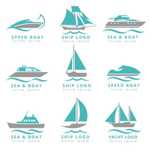 Boat Logo And Yacht Label Set....