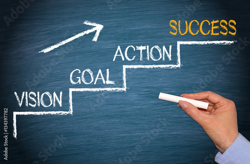 Fototapeta Vision, Goal, Action, Success - Business Strategy