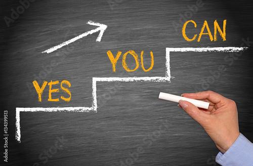 Fotografie, Obraz  Yes You Can - Motivation Business Concept
