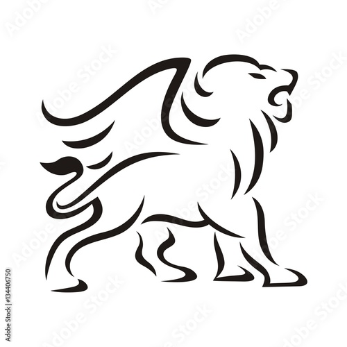 Lion Winged Outline Brush Buy This Stock Illustration And Explore Similar Illustrations At Adobe Stock Adobe Stock This page is about how to draw a lion outline,contains lion outline drawing at getdrawings,lion stock vector art & more images of aggression 467666653 | istock. adobe stock