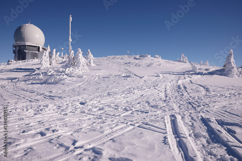 Winter observatory on Grosser Arber Canvas Print