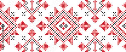 Fotografie, Obraz  Embroidered cross-national pattern