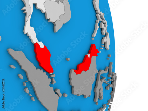 Printed kitchen splashbacks Fairytale World Malaysia on globe