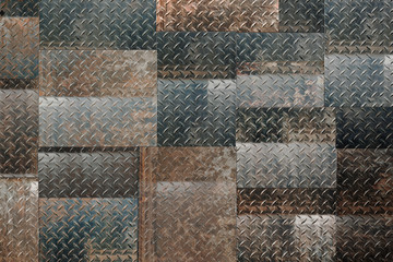 Panel Szklany metal background