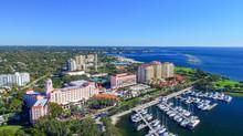 ST PETERBURG, FL - FEBRUARY 2016: Aerial City View. St Petersbur