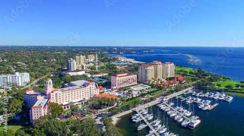 Photo  ST PETERBURG, FL - FEBRUARY 2016: Aerial city view. St Petersbur