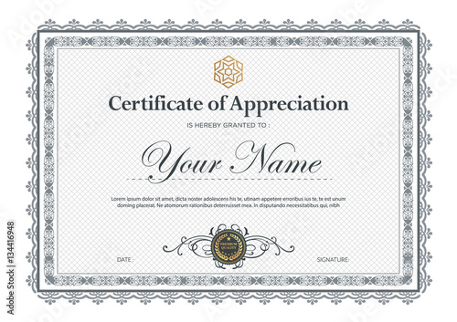 Certificate Vector Luxury Template Buy This Stock Vector And