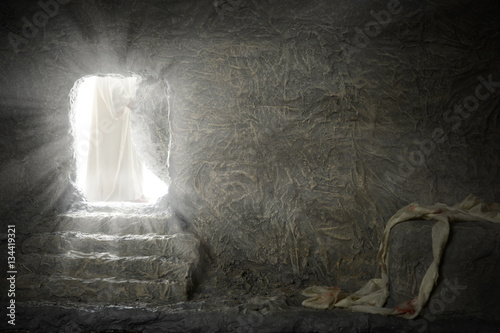 Fotomural Jesus Leaving Empty Tomb