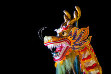 Chinese Dragon Dancing Decoration In Chinese New Year Celebratio