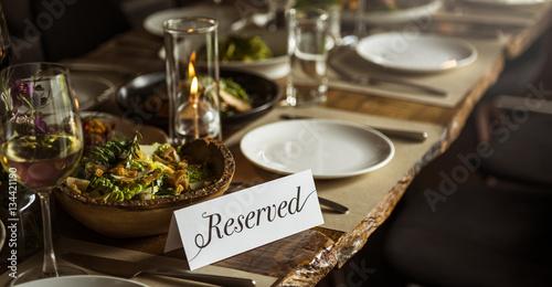 Restaurant Chilling Out Classy Lifestyle Reserved Concept Slika na platnu