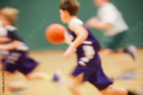 Photo  Youth Basketball motion blur